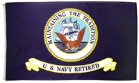 U.S. Navy Retired Blue Flag