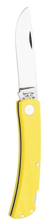 Bear Yellow G10 Farmhand Lockback Knife