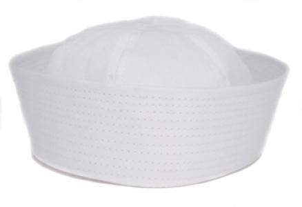 Children's White Sailor Hat
