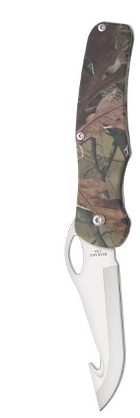 Bear Camouflage Aluminum Sideliner Guthook Hunter Knife