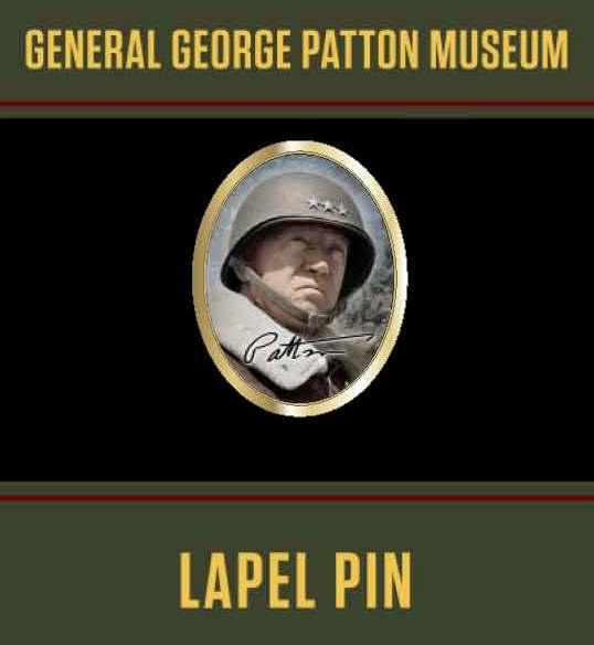 General George S. Patton Signature Museum Lapel Pin