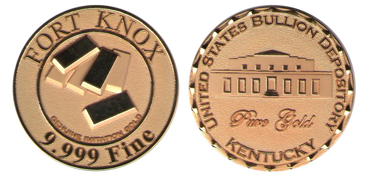 Fort Knox Kentucky Gold Vault Coin