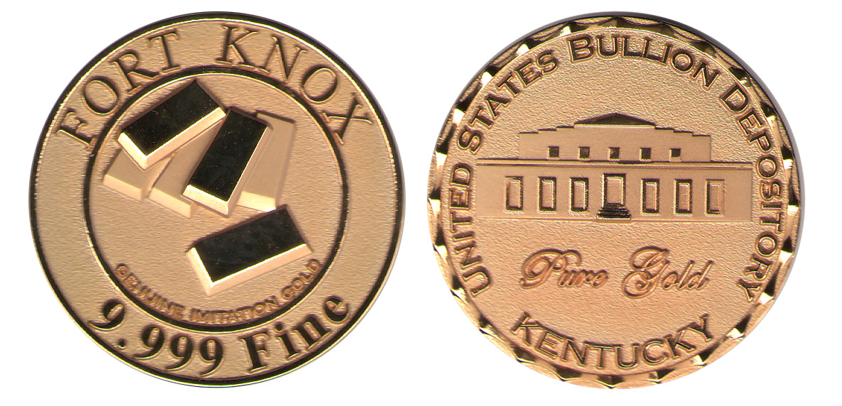 Fort Knox Kentucky Gold Vault Coin Red Hill Cutlery
