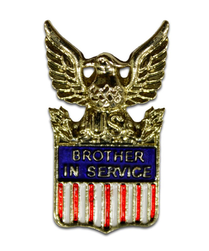 Brother In Service American Flag Pin