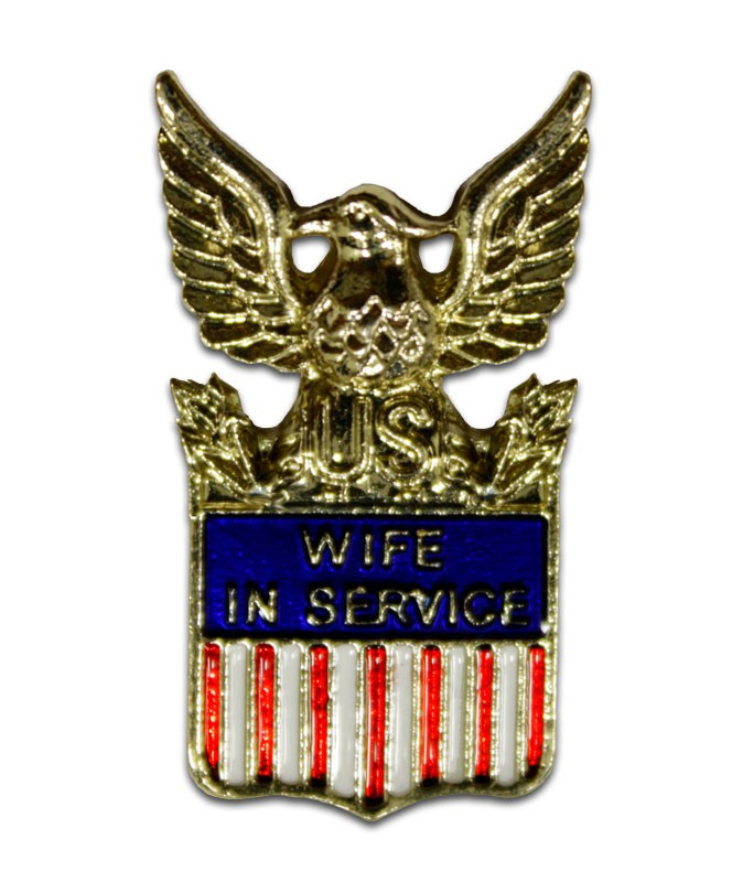 Wife In Service American Flag Pin