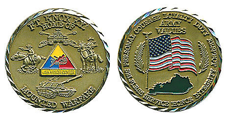Fort Knox Kentucky Army Values Coin