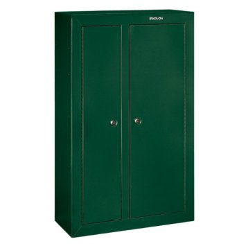 Stack on hunter green steel double door 10 gun cabinet for 10 gun double door steel security cabinet