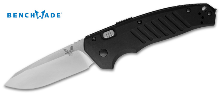 Benchmade 6800 Black Auto APB Push Button Knife | Red Hill