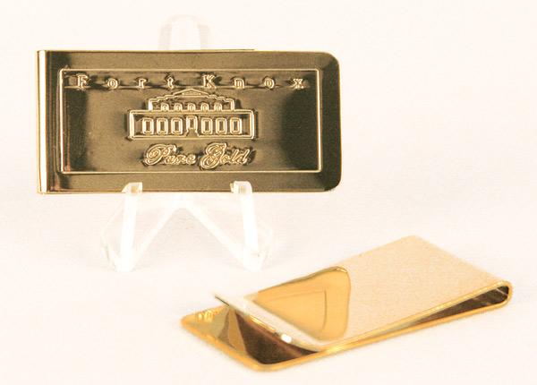 Fort Knox Gold Vault Replica Bar Money Clip