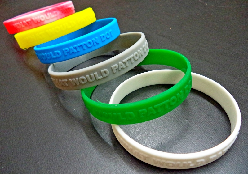 WWPD What Would Patton Do? Rubber Bracelet