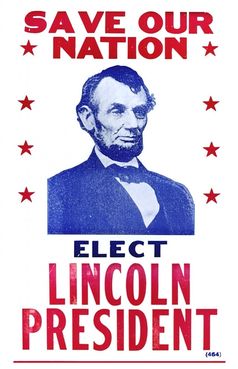 Elect Lincoln President 11 X 17 Poster In Sleeve Red