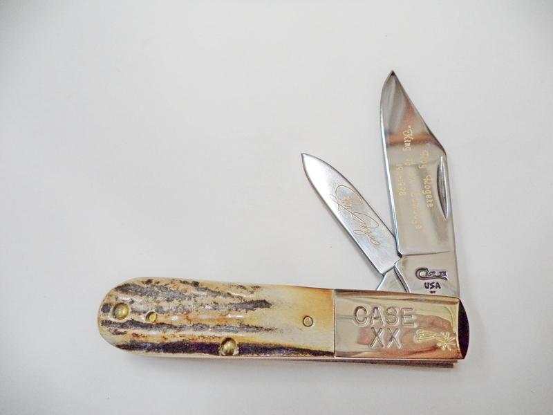 Case 1998 Roy Rogers Stag Barlow Knife Cowboy Hat Set
