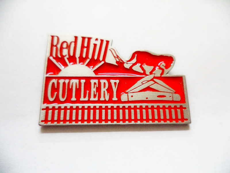 Red Hill Cutlery Logo Pewter Hat Pin