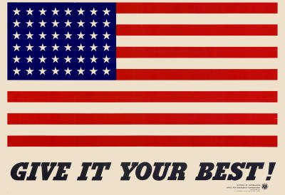 """Give It Your Best"" Flag 2.5 in x 3.5 in Magnet"