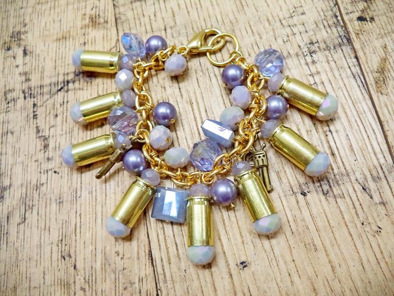 Gun Luxe Jewelry .380 Brass Ammo Cluster Bracelet