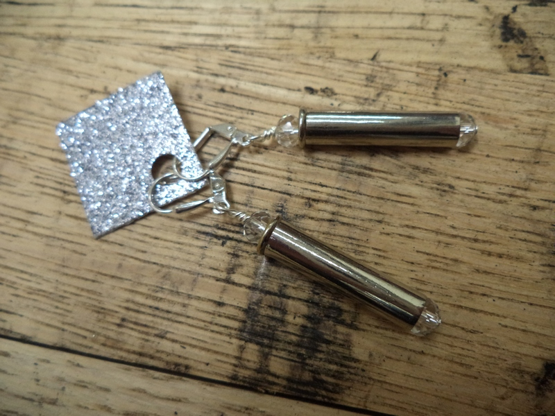 Gun Luxe Jewelry .22 Long Mag Ammo Earring in Clear