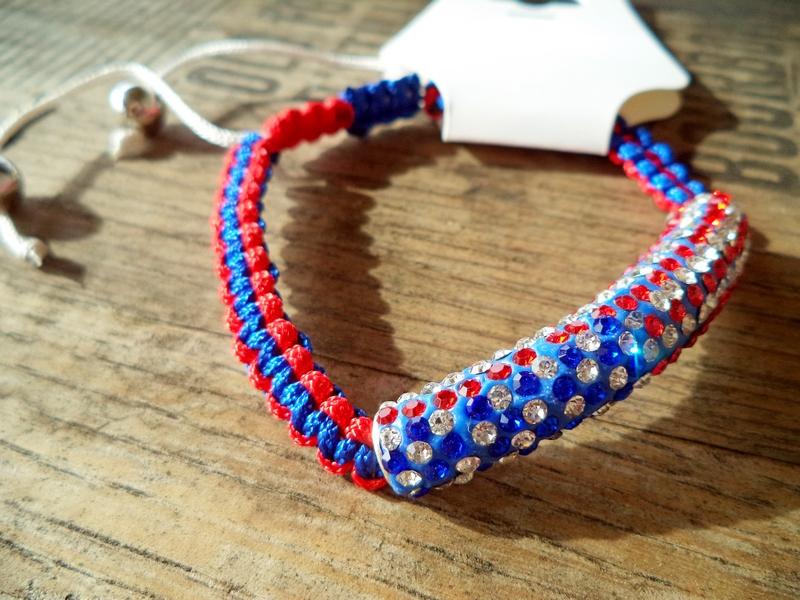 American Pride Red White & Blue Crystal Bracelet