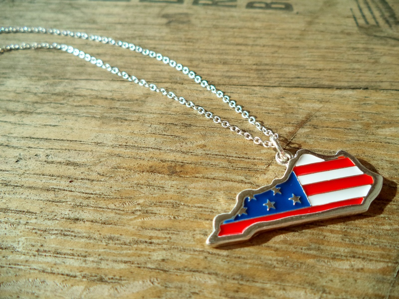 necklace product design tag dog flag american online sunshine