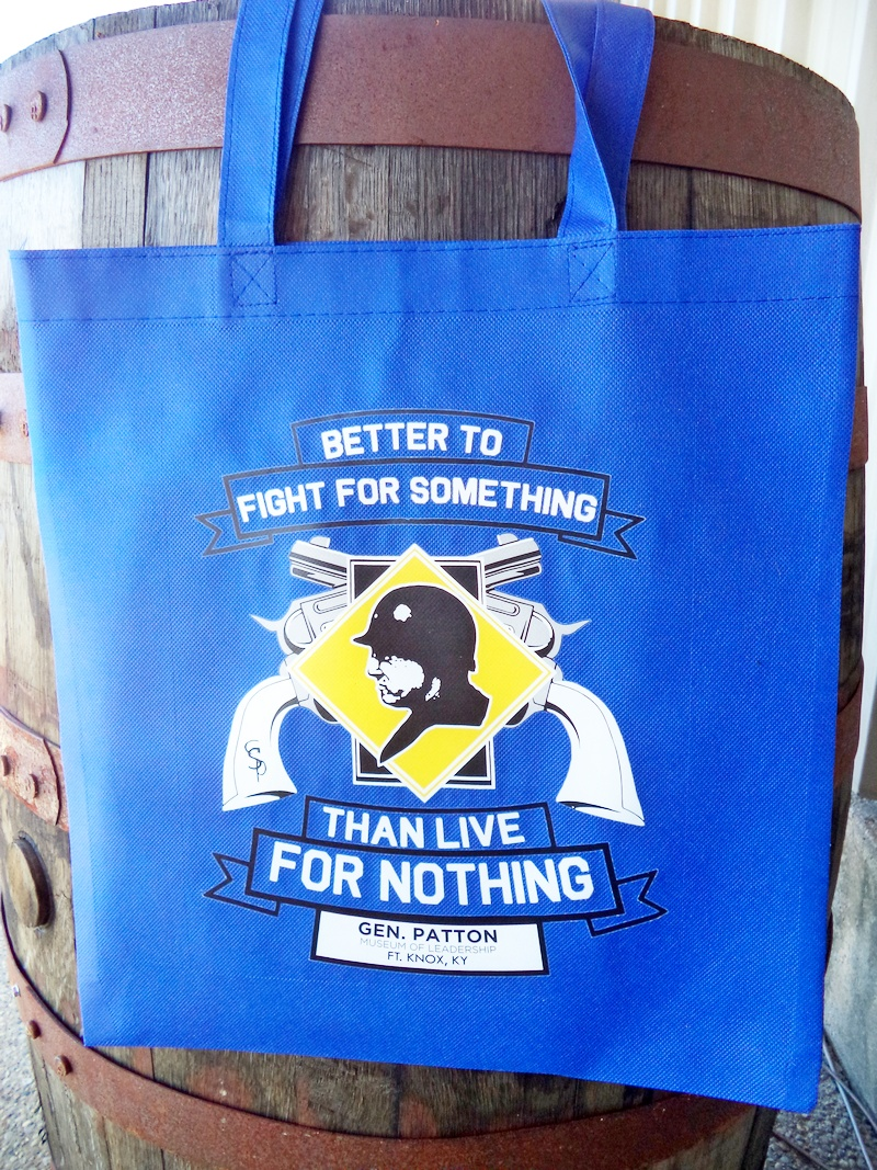 "Patton Museum ""Fight for Something"" Blue Souvenir Bag"