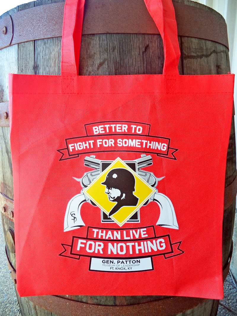 "Patton Museum ""Fight for Something"" Red Souvenir Bag"