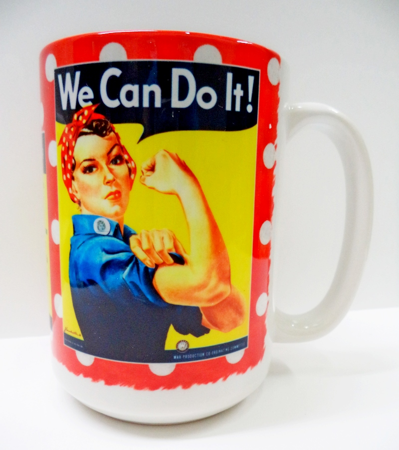 Rosie the Riveter Red Polka Dot Coffee Mug