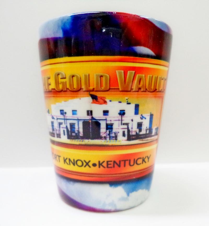 The Gold Vault Fort Knox, Kentucky Shot Glass