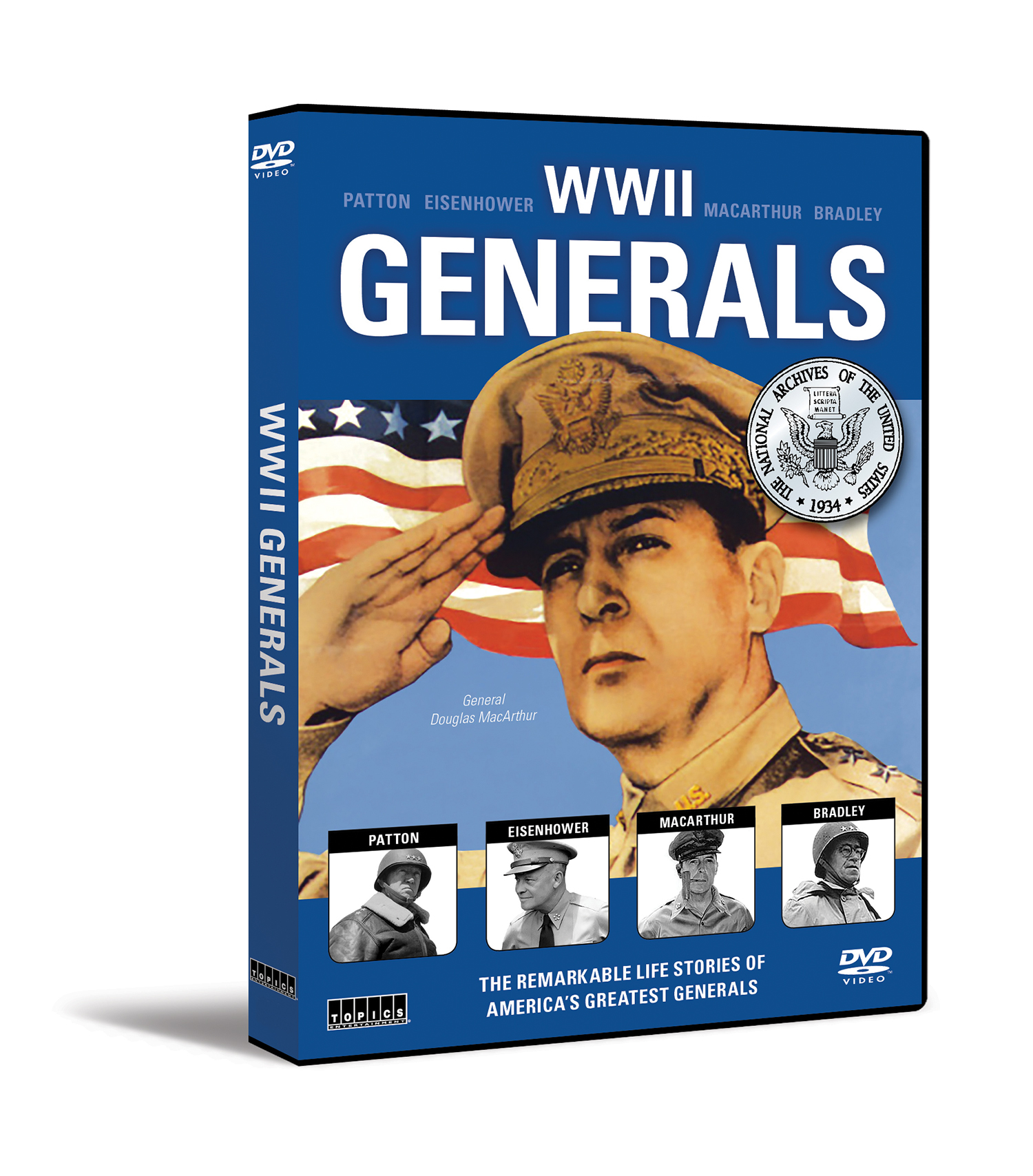 WWII Generals DVD (Patton, Bradley, Eisenhower, Macarthur)