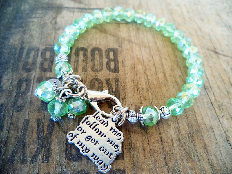 """Lead Me Follow Me"" Peridot Green Bracelet"