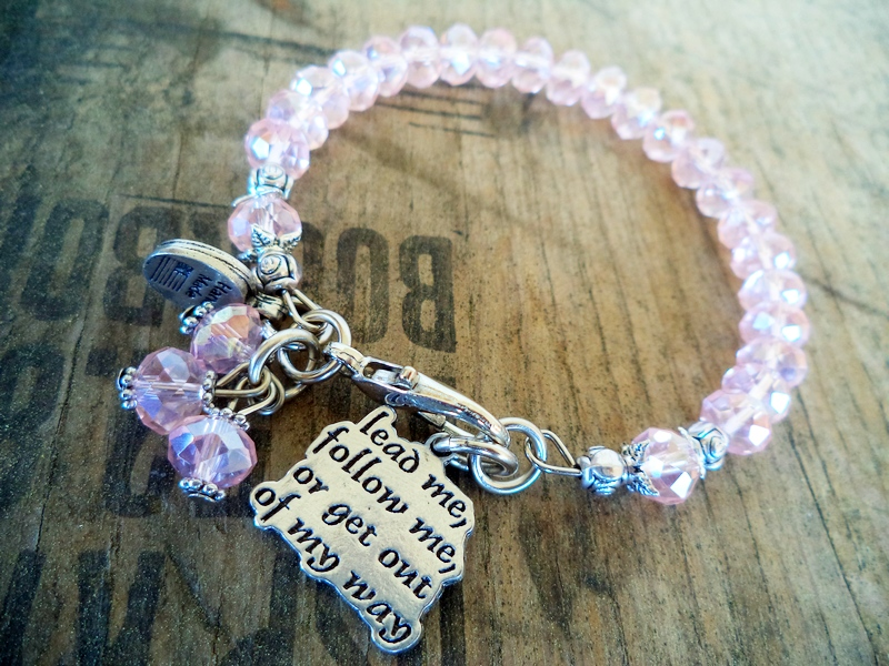 """Lead Me Follow Me"" Rose Pink Bracelet"