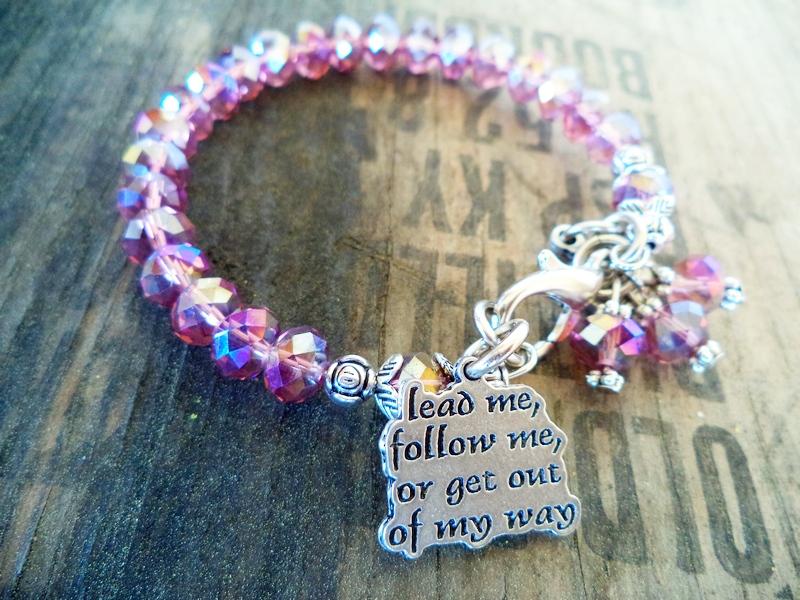 """""""Lead Me Follow Me"""" Lavender Purple Bracelet"""