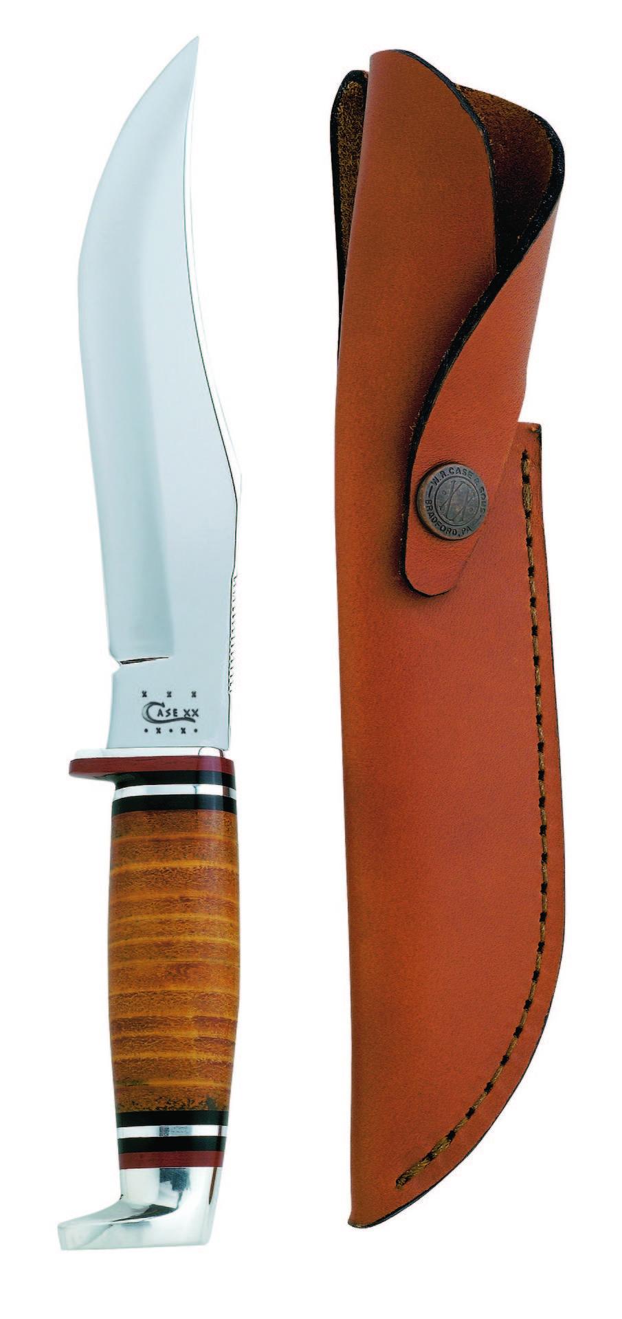 Case Brown Leather Handle 386 Skinner Hunter Knife