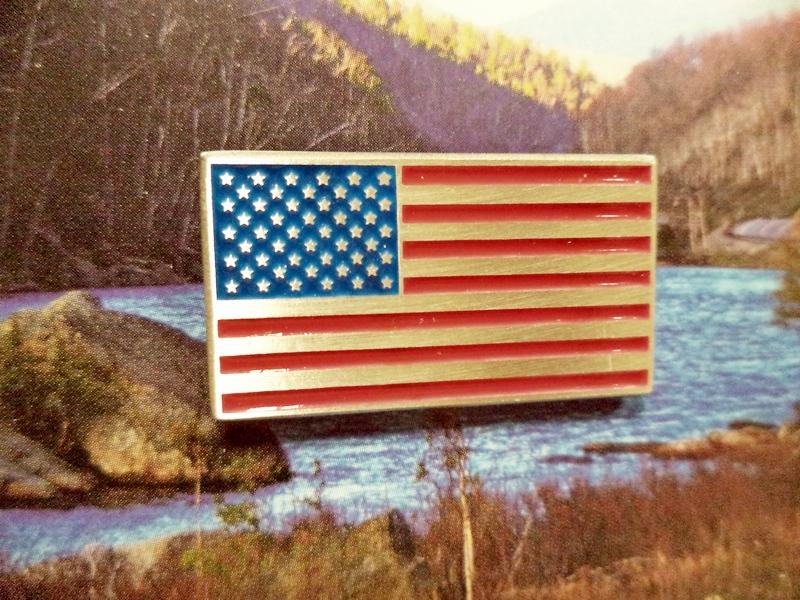 American Flag Pewter Pin
