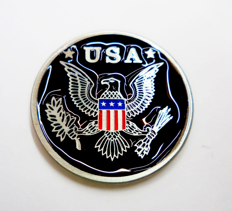 American Flag USA Eagle Pewter Pin