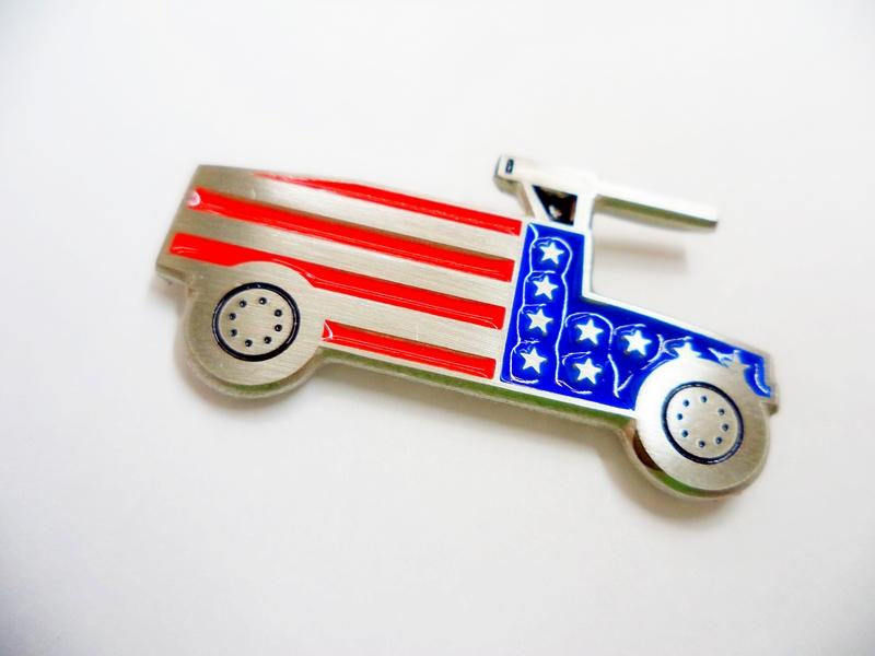 American Flag Humvee Flag Pewter Pin