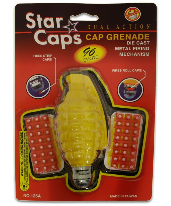 Cap Grenade Retro Toy with Caps