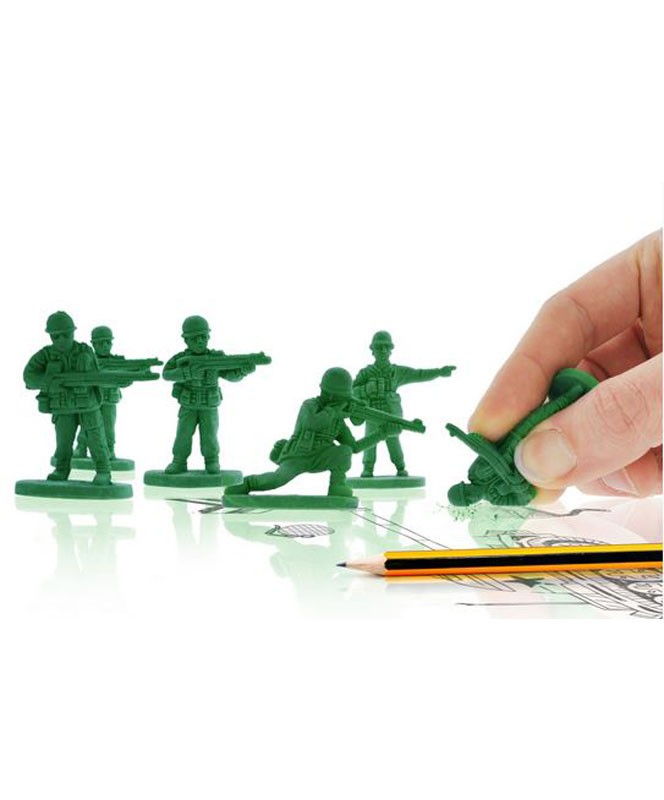War on Error – Six Toy Soldier Erasers