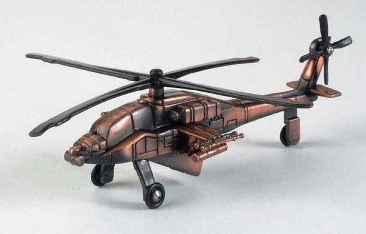 Die-Cast Apache Helicopter Pencil Sharpener