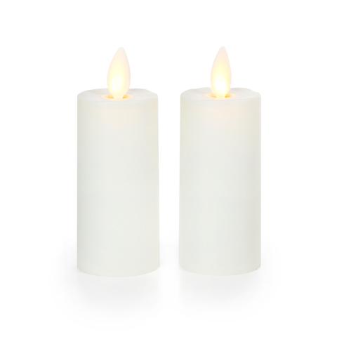 Luminara Vanilla Ivory 3in Flameless Candle Votives (2)