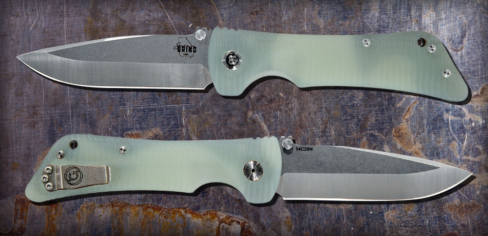Southern Grind Jade Ghost Green Bad Monkey Knife Red