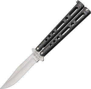 """Bear 4"""" Silver Vein Butterfly Knife"""