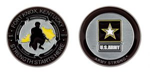 Fort Knox Kentucky Army Strong Coin