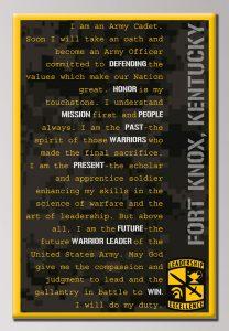 Cadet Command ROTC Oath Magnet