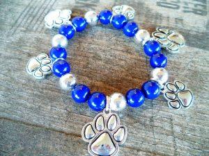 Blue & Silver Kentucky WildCats Bracelet