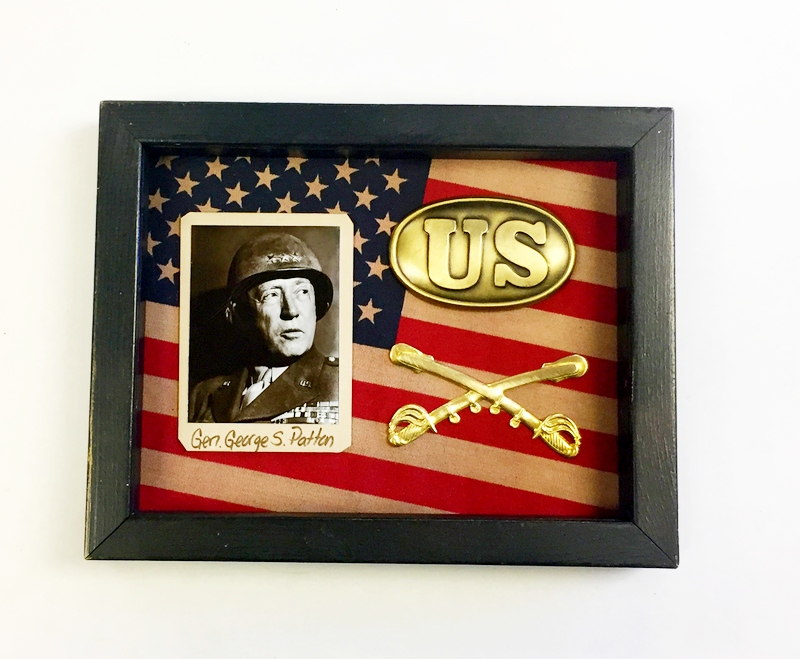 General George S. Patton Historical Shadow Box