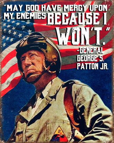 """Patton """"God Have Mercy"""" Metal Sign"""