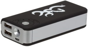 Browning Black USB Rechargeable Power Bank