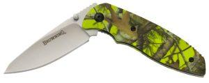 Browning Green Camo EDC Liner Lock Knife