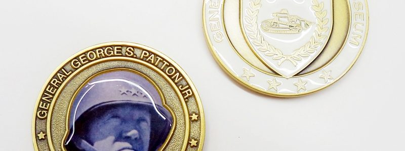 General George S. Patton Gold & White Coin