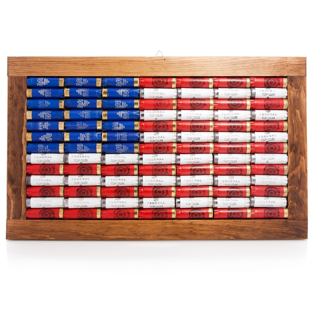 Superbe Lucky Shot 12 Gauge American Flag Wall Art
