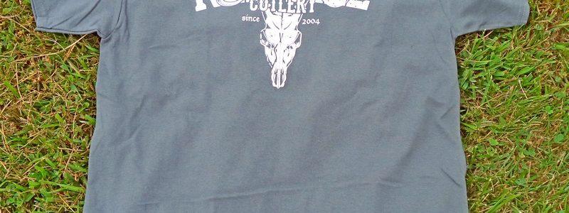 Red Hill Cutlery Hardcore Deer Skull Grey Shirt